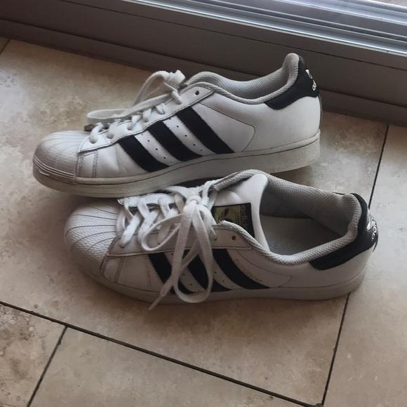 adidas Shoes   White Striped   Poshmark